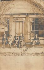 D28/ Herring Allen County Lima Ohio Real Photo Rppc Postcard 1907 Home People