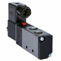 """1/4"""" Pneumatic 4 Way 2 Position Directional Control Air Solenoid Valve 110V AC"""