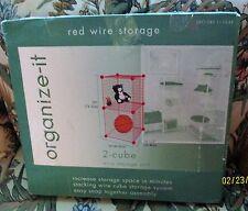 RED ORGANIZE-IT 2-CUBE WIRE STORAGE UNIT
