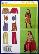 Simplicity Girls Jumper Jacket Vest Pants Sewing Pattern Child 7,8,10,12,14 2484