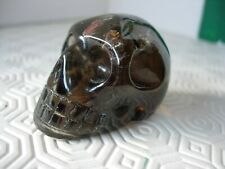 crystal skull smokey quartz with inclusions