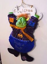 16 In Plush Hanging Monster & Ghost Halloween Trick or Treat Sign Decoration