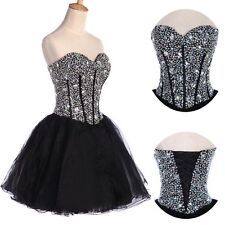 Teens Homecoming Sequins Dress Beaded Cocktail Prom Party Short mini Ball Gowns