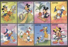 Lesotho 1991 DISNEY/GAMES/Mickey/Donald/Frisbee/Cartoons/Animation 8v set n16748