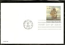 US SC # UX86 Drake's Golden Hinde FDC. Ready For Cachet