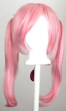18'' Pig Tails w/ Part, Long Bangs Cotton Candy Pink Wig Cosplay NEW