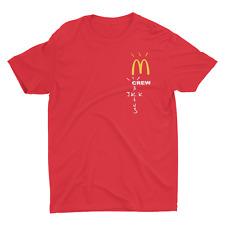 Cactus Jack McDonalds T-Shirt Travis Scott Merch Crew Red Tee Premium Collab