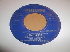 "GLORIA CHRISTIAN "" TU SI' LL'AMMORE / ESTATE ADDIO "" 7"" SINGLE MONO ITALY 1969"