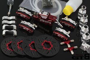 HPI baja 5b RC 1/5 Metal Carbon Fiber Four 4 Wheel Hydraulic Disc Brake System