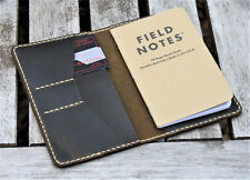 Handmade Leather Case Cover Wallet  Field Notes Moleskine Coyote Shell Shock