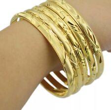 "1 Piece Set Lot 24k Yellow Gold 7-1/2"" Bracelets Womens Italian Cut"