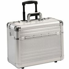 Pilot Case with trolley Pilot trolley wheeled  with wheels aluminium  silver  XL