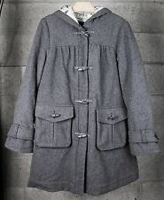 LUX for Antrhopologie Grey Wool Toggle Button Lined Pea Coat Women's Sz. S
