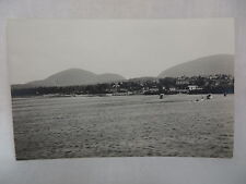 VINTAGE REAL PHOTO POSTCARD TOWN VIEW OF BAR HARBOR MAINE FROM BAR ISLAND UNUSED