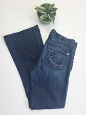 ROCK & REPUBLIC Roth Bootcut Low Rise Pink Pocket Dark Med Denim Jeans 26