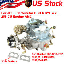 RSC-BBDJEEP CARBURETOR FIT JEEP BBD 6 CYL 4.2 L 258 CU ENGINE AMC CJ5 CJ7 2BBL