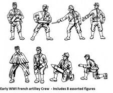 Hat 1/72 Scale Early WWI French artillery Crew. Model Kit - Contains 1 Spruce