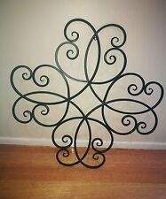 Brand new black metal wall art. French provincial. Contemporary. Garden. Home