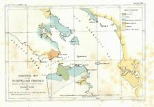San Francisco California harbor 1853 geological survey map US Pacific Railroad