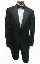Men's Basic Black Wool Tuxedo Coat Pants FREE Bow Tie Mason Closeout Sale