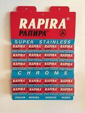 100 NEW Rapira Super Stainless Rapira double edge safety razor blades