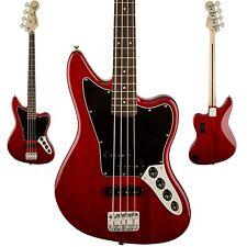 Squier Vintage Modified Jaguar Bass Guitar Special Crimson Red Transparent - NEW