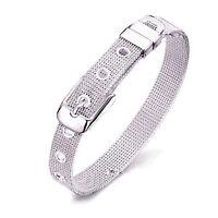 Eg _ Hk- Damen Mode Versilbert Netz Ehering Armreif Armband Schmuck Hot C