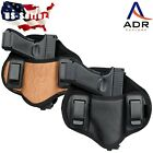 Tactical Concealed carry universal fit leather pancake gun holster IWB dual clip