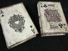 ACE & KING CARDS Jewlery storage boxes book CASINO GAME ROOM home decor GAMBLER