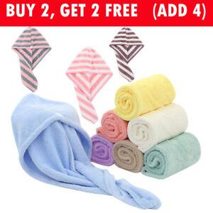 Magic Microfiber Hair Fast Drying Towel Bath Wrap Hat Quick Cap Turban Bath New