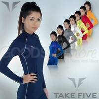 Womens Compression Long Sleeve Top Lightweight Base Layer S-3XL Skins Take 5