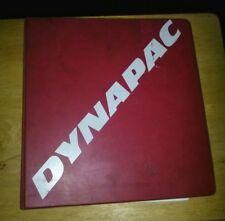 Dynapac Catalog Manual CC 501/501 C Parts, Maintenance, Operation