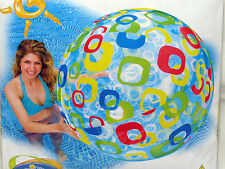 """Inflatable beach ball 48"""" by Intex#59070 (color rounded squares)"""
