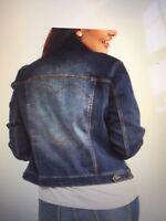 Women's EV1 By Ellen Degeneres Denim Love Heart Jacket Sz Med