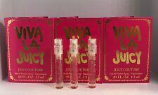 "3 x Juicy Couture ""Viva La Juicy "" Perfume Spray Sample .05oz /1.5ml each New!"
