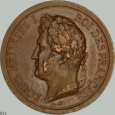 King Louis Philippe copper medal 1842, nice old Copper medal