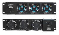 "NEW 19"" Rack Mount Cooling Fan Unit.Pro Audio Road Case.Multimedia Cabinet."