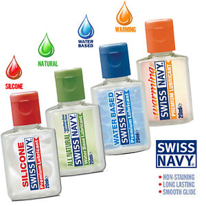 Swiss Navy Mini Lubricant Samplers Natural Warming Silicone Enhance Sex Lube USA