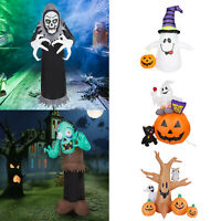 Halloween Airblown Inflatable Blow Up Ghost Pumpkins LED Lights Yard Decoration