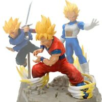 DRAGON BALL Z -  Son Goku, Vegeta, Trunks Figuras Super Saiyan tamaño 15-25 cm