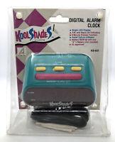 Vintage Alaron Kool Shades Alarm Clock Retro 1990's Digital LED Green/Purple