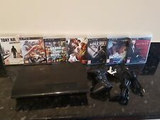 Sony Playstation 3 / PS3 Super Slim 500GB Console +1 controller + 10 games