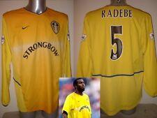 Leeds United Lucas Radebe Camisa Jersey Football Soccer Adulto Xl Nike L/s Away