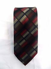 "Croft & Barrow Red Check 57"" Polyester Tie"