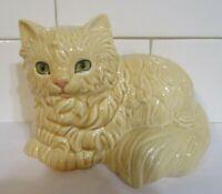 Vintage Goebel Blond Persian Cat Porcelain Figurine #3103409 Green Eyes