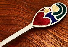 - MICHELSEN DANISH STERLING SILVER & ENAMEL SPOON: CHRISTMAS 1968 SIGNED HEERUP