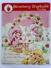 Vintage 1982 Strawberry Shortcake Tray Puzzle By American Greetings Co.