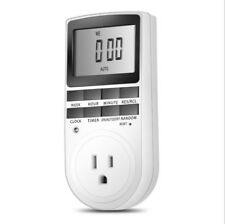 Digital LCD Display In Programmable Timer Switch Socket 24/7