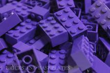 Briques LEGO 50 x Violet Foncé 2x4 PIN-de nouveaux ensembles envoyés dans un clair sealead Sac
