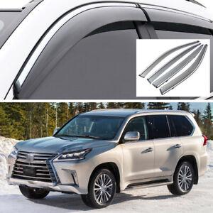 Window Visor Vent Deflector Sun/Rain Guards for Lexus LX 570 2016-2020 17 18 19